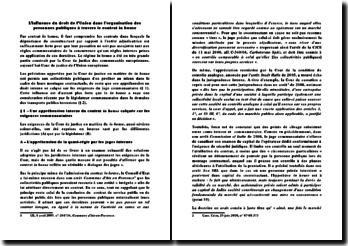 L'influence du droit de l'Union dans l'organisation des personnes publiques à travers le contrat in house