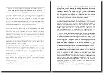 Origine du contrat in house : le modèle interne des contrats entre deux services distincts au sein d'une même personne publique