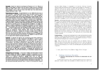 Textes sur la politique intérieure florentine - François Guichardin