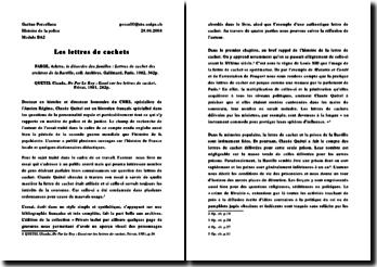 De Par Le Roy : Essai sur les lettres de cachet - Claude Quetel