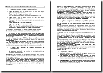 Introduction au Contentieux Constitutionnel