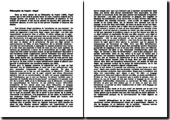 Philosophie de l'esprit, Hegel