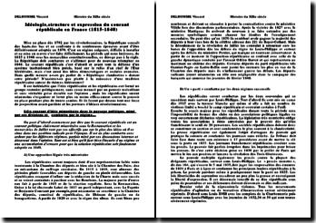 Idéologie, structure et expression du courant républicain en France (1815-1848)
