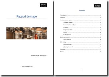 Rapport de stage: BCBG Editions