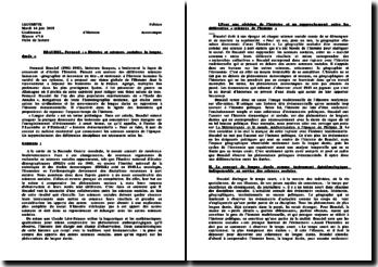 Histoire et sciences sociales: la longue durée - Fernand Braudel