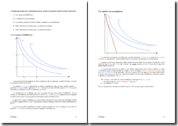 Le programme du consommateur: effet substitution et effet revenu