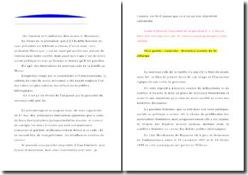 Conférence sur le Code de la famille au Maroc