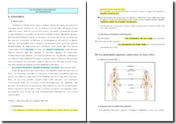 Le système endocrinien: les hormones
