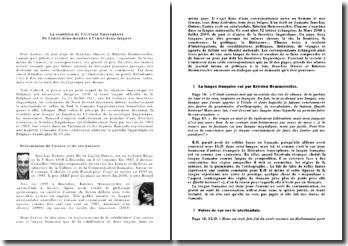 Lettres du plat pays - Jean-Luc Outers et Kristien Hemmerechts