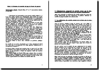 Conseil d'Etat, 6ème et 1ère sous-sections réunies, 27 mai 2009: l'étendue du contrôle du juge de l'excès de pouvoir