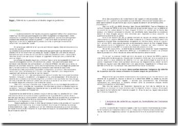 Code de procédure civile: la célérité de la procédure et le double degré de juridiction