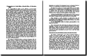 Commentaire de l' Arrêt Moine (Conseil d'Etat - 17 décembre 1999)