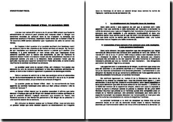 Commentaire Conseil d'Etat, 18 novembre 2009: rétablissement de l'inégalité issue du handicap
