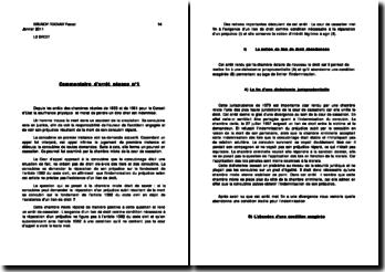Commentaire d'arrêt séance n 1: le concubinage générateur de droit