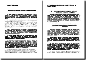 Conseil d'Etat 3 mars 2004: décision Jamart