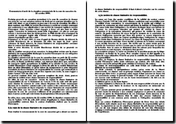 Arrêt de la chambre commerciale de la cour de cassation du 22 octobre 1996: clause limitative de responsabilité