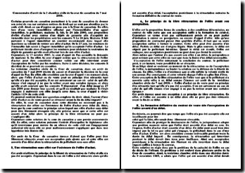 Commentaire d'arrêt de la 3 chambre civile de la cour de cassation du 7 mai 2008: restitution du dépôt de garantie