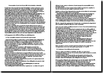 Commentaire d'arrêt du 26 juin 2001 de la chambre criminelle: responsabilité pénale d'une société