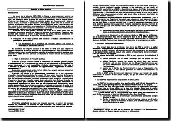 Administration territoriale: enquête et débat publics