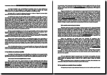 Commentaire d'arrêt de la Cour administrative d'appel de Marseille rendu le 14 février 2012: principe de légalité