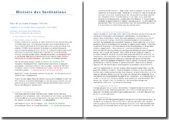 Histoire des Institutions: La Gaule franque (VIè-Xè)