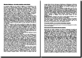 Histoire Moderne: la traite négrière selon Listré
