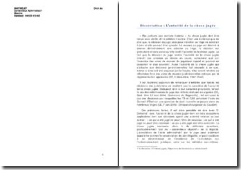 Droit du contentieux administratif: l'autorité de la chose jugée