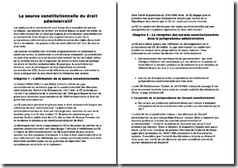La source constitutionnelle du droit administratif