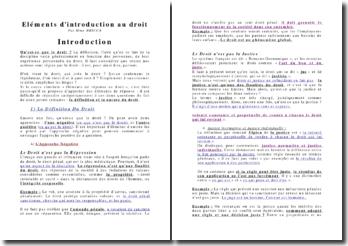 Eléments d'introduction au droit