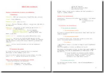 Droit des contrats: conventions et contrats