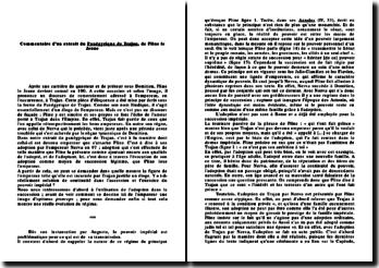 Commentaire d'un extrait du Panégyrique de Trajan - Pline le Jeune