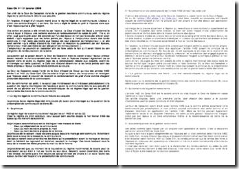 Cass Civ 1ère 31 janvier 2006: gestion des biens communs au sein du régime légal de la communauté réduite aux acquêts