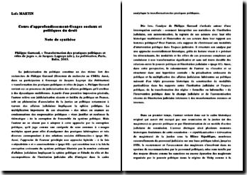 La politisation: transformation des pratiques politiques et rôles de juges - Philippe Garraud