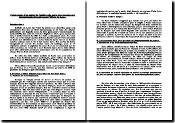 Commentaire d'un extrait de l'arrêt rendu par la Cour permanente internationale de justice dans l'Affaire du Lotus