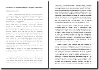 Les sources du droit international : extrait de l'arrêt du 20 décembre 1974 portant sur l'affaire des essais nucléaires