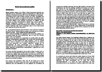 Droit international public: sources écrites, sources non écrites