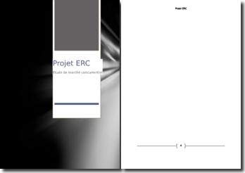 Projet ERC: étude de marché concurrentiel