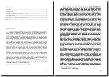 Rapport De Stage D Observation Dans Une Classe De Ce1 Au Sein De L