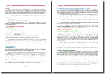 Transformation de l'organisation du travail et des normes de l'emploi