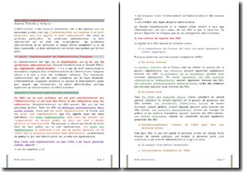 Droit administratif: le fonctionnement de l'administration française