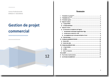 Gestion de projet commercial d'une banque coopérative et intermédiaire d'assurance