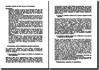 Exposition coloniale de 1931: reflet de l'idéologie coloniale de la France