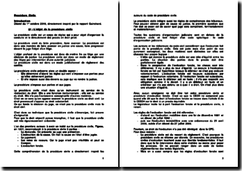 Directement inspiré par le rapport Guinchard: la procédure civile