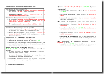Compétence d'attribution en procédure civile
