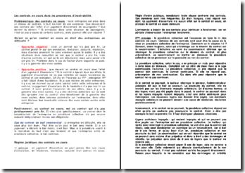 Les contrats en cours dans les procédures d'insolvabilité