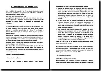 La commune de Paris 1871