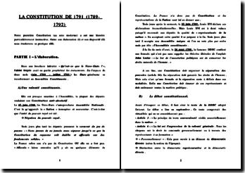 La Constitution de 1791