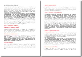 Le PACS (Pacte Civil de Solidarité)