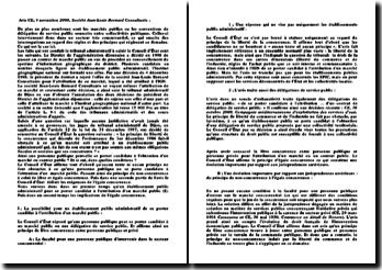 Avis CE, 8 novembre 2000, Société Jean-Louis Bernard Consultants