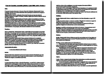 Cour de Cassation, Assemblée plénière, 2 juin 2000, arrêt « Fraisse »